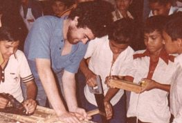 Tim Kaine volunteering in Honduras